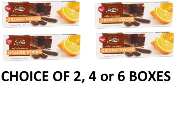 Sweets Milk Chocolate Orange Sticks 10.5oz per box  CHOICE OF 2 4 or 6 BOXES