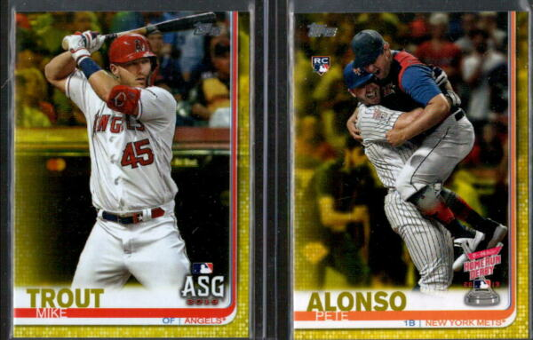 2019 Topps Update Walgreens Yellow Parallel w Rookie RC - You Pick From A List