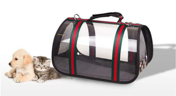 High Quality Designer Inspired Transparent Luxury Pet Bag Carrier for Dogs Cats $38.95