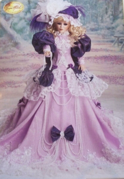 VIOLETS IN SNOW DOLL SIGND MARYSE NICOLE FULL PORCELAIN 1994 $850 FRANKLIN MINT