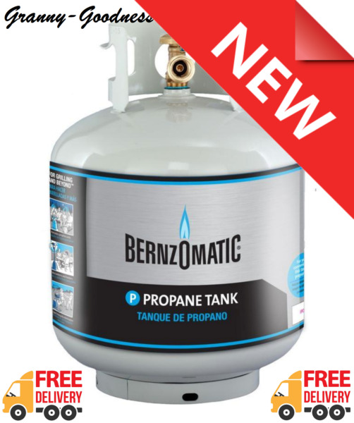 Empty Liquid Propane Refillable Tank Gas BBQ Barbeque Grill  Bernzomatic 20 lb.