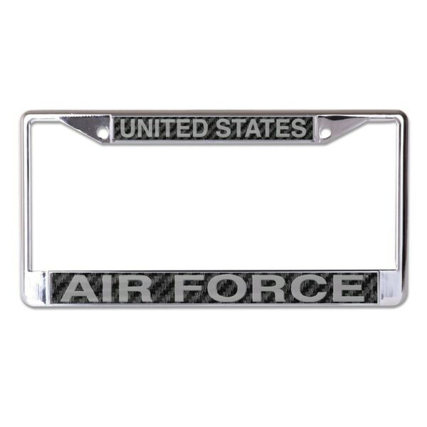 UNITED STATES AIR FORCE CARBON BACKGROUND 6quot;X12quot; METAL LICENSE PLATE FRAME 👀 $20.00