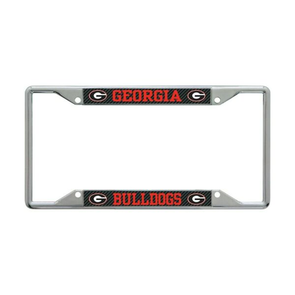 GEORGIA BULLDOGS CARBON BACKGROUND 6quot;X12quot; METAL LICENSE PLATE FRAME WINCRAFT 👀 $20.00