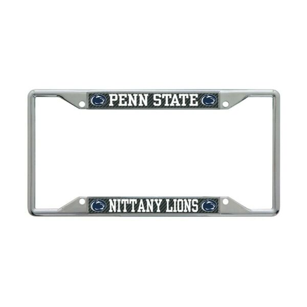 PENN STATE NITTANY LIONS CARBON BACKGROUND 6quot;X12quot; METAL LICENSE PLATE FRAME NEW $20.00