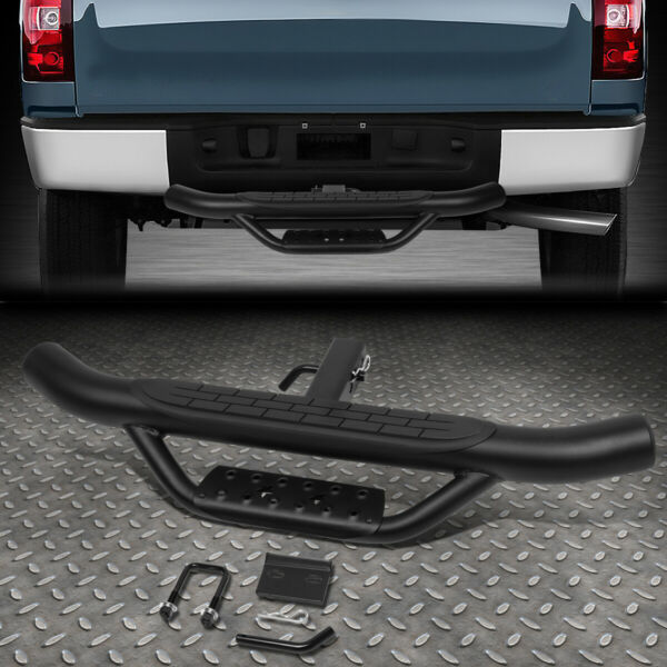 FOR 2quot; RECEIVER REAR BUMPER TRAILER TOWING HITCH STEP BAR GUARD 36quot;WIDE X 4quot;OD $64.88