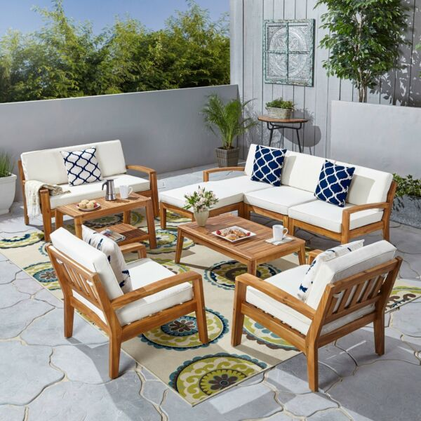 Parma 7 Seater Sectional Sofa Set For Patio with Loveseat $1946.68