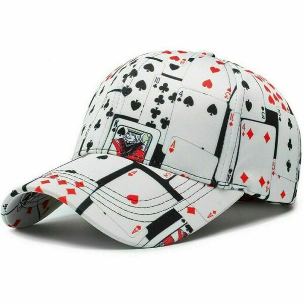 Mens CAP Baseball Cotton Poker  Print Ball Dad Trucker Caps For Women  Adult Out