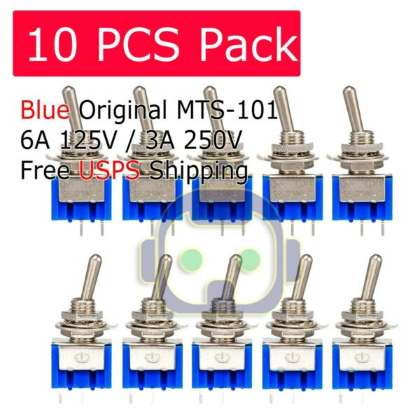 10Pcs 2 Pin SPST ON OFF 2 Position 250VAC Mini Toggle Switches MTS 101 US Stock $6.95