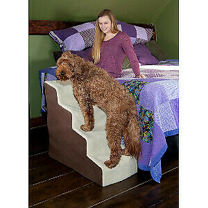 Pet Gear Deluxe Soft Step IV stairs dogs cats max 150 lbs Oatmeal Chocolate