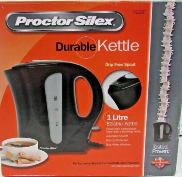 Proctor Silex Electric Durable Electric Kettle 1 Liter Brand New