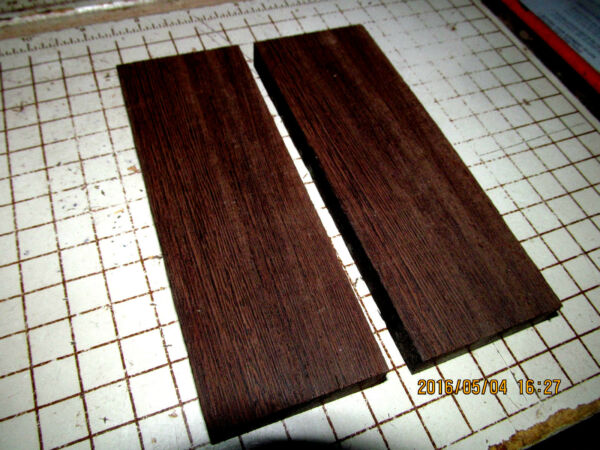 TWO BEAUTIFUL EXOTIC SANDED WENGE BLANKS WOOD LUMBER 12 X 4 X 3 4quot; $29.95