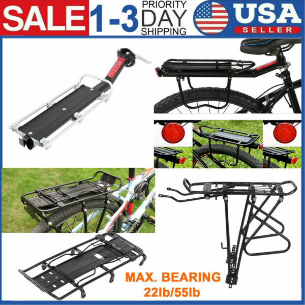 Bicycle Mountain Bike Rear Rack Seat Aluminum Post Mount Pannier Luggage Carrier $28.02