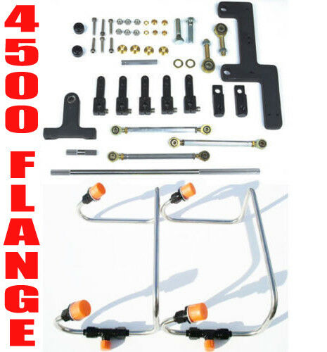 DUAL INLET 4500 MECH DOM BLOWER FUEL LINES BLACK COLOR KIT HOLLEY LINKAGE COMBO $379.99