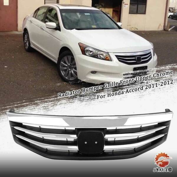 Radiator Bumper Grille Front Upper Chrome Grill For Honda Accord 2011-2012