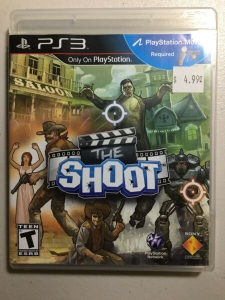 ⭐️The Shoot (Sony PS3 GAME COMPLETE ACTION MOVIE SETS ACTOR GAME Bin-2