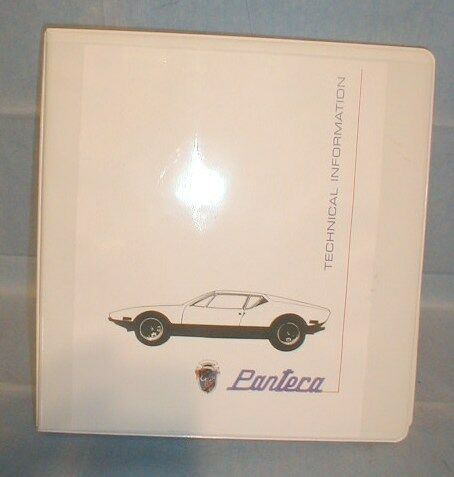 DETOMASO PANTERA FACTORY SERVICE MANUAL   shop repair    Ford  New