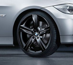 Wheel and Tire Assembly-Star Spoke 199 in Black - Complete Set with RDC BMW OEM