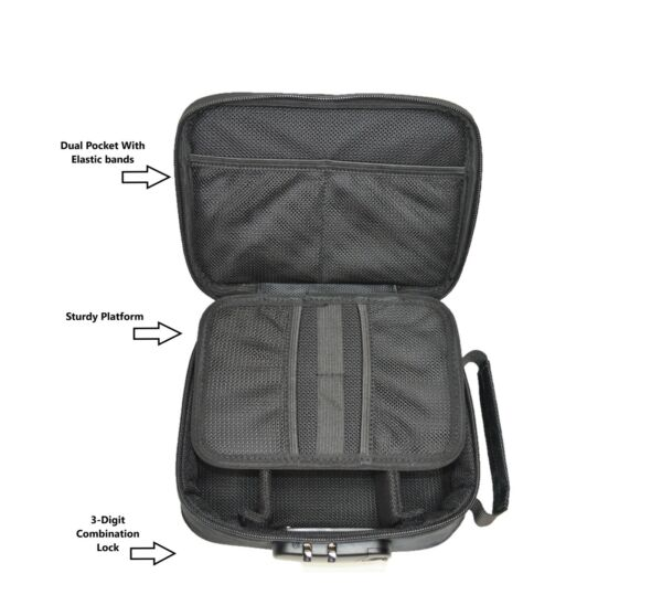K 9 By Mana Odor Resistant Soft Carry Case Black Smell proof Medicine Lock Case $30.00