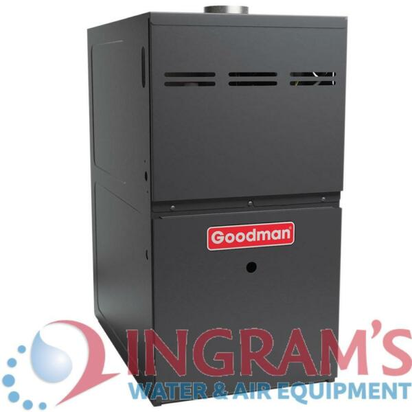 80k BTU 80% AFUE Multi Speed Goodman Gas Furnace Upflow Horizontal 17.5quot; Cab $818.00