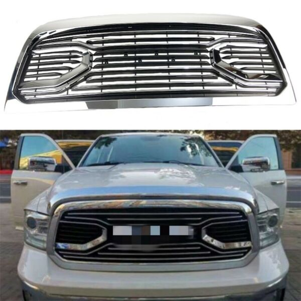Fit For 2013-2018 Dodge Ram 2500 3500 Front Chrome Grille Replacement Shell