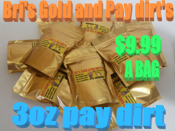 Pay dirt 3oz. UNSEARCHED NATURAL GOLD NUGGETS amp; FLAKES BRI#x27;S RICH PAY Added gold $9.99