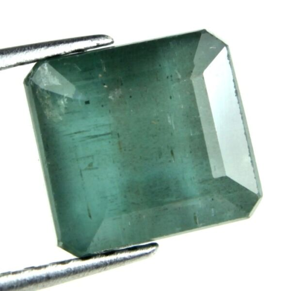 5.30 CARAT NATURAL EARTH MINED ZAMBIAN EMERALD GEMSTONE OCTAGON FACET