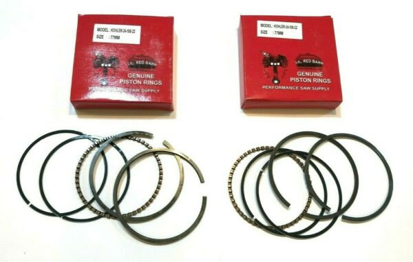 TWO SETS OF PISTON RINGS REPLACES KOHLER 24 108 22 S CH18 CH22 CV18 CV22 NEW