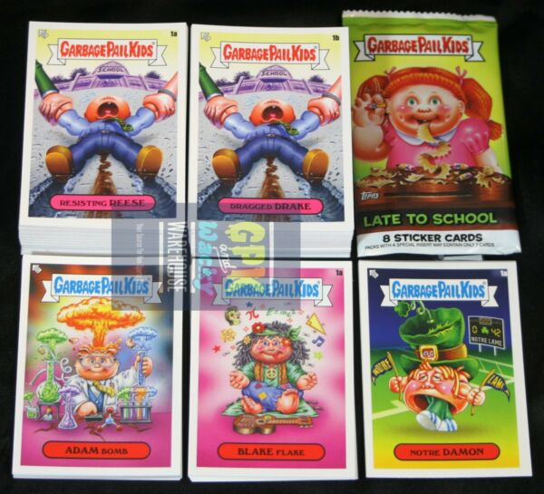 2020 GARBAGE PAIL KIDS LATE TO SCHOOL 240 CARD MASTER SET BASE +FREE WRAPPERS