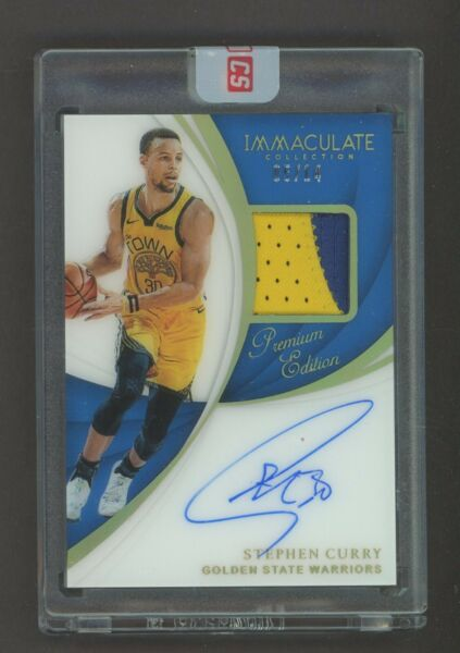 2018-19 Immaculate Premium Edition Stephen Curry GU Logo Patch AUTO 514