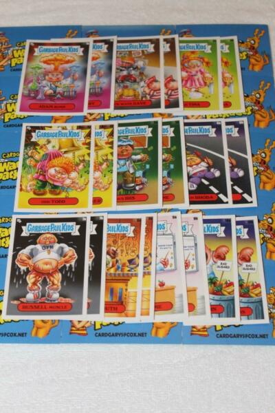 GARBAGE PAIL KIDS LATE TO SCHOOL CLASS FACULTY LOUNGE 20 CARD SET ADAM BOMB GPK