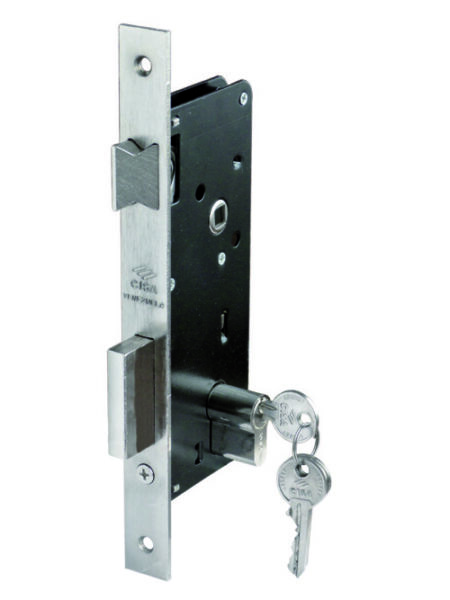 CISA mortise door lock 5 variants based on size and key turns