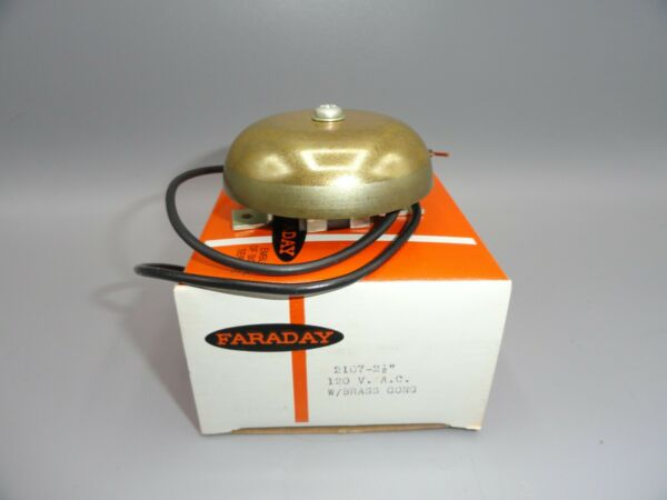 Vintage Elevator Arrival Signal Brass Bell ChimeGong 120 Volt AC NEW IN BOX