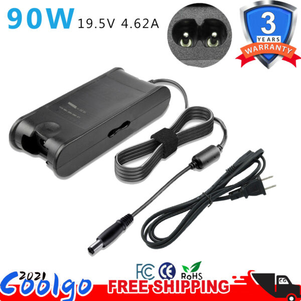 19.5V 4.62A 90W AC Adapter Charger Power Supply for Dell Laptop PA10 PA-12 FAST