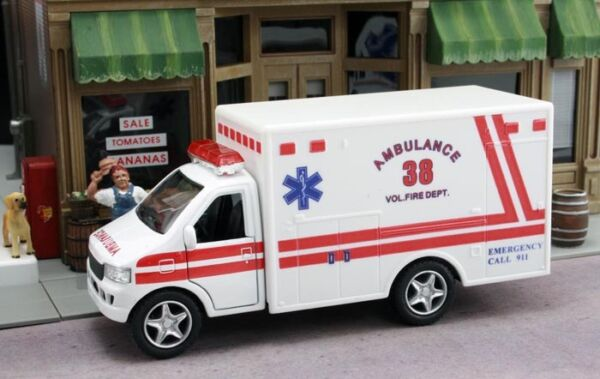 New White Ambulance Vol Fire Dept. Approximately 1 43 Scale