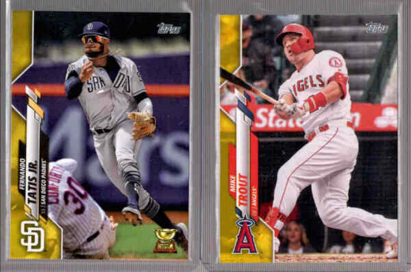 2020 Topps Series 1 Walgreens Yellow Parallel - You Pick From A List
