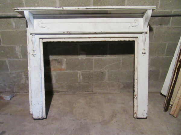 ~ ORNATE ANTIQUE CHESTNUT FIREPLACE MANTEL ~ 42 OPENING ~ ARCHITECTURAL SALVAGE
