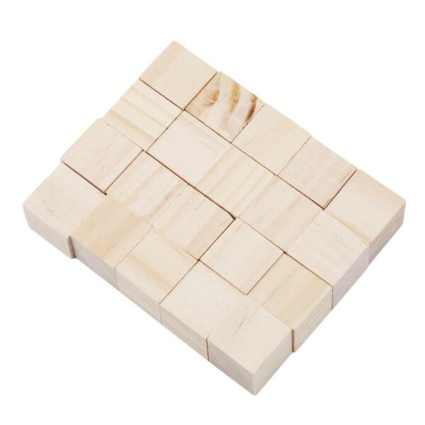 Wooden Cubes - Wood Square Blocks For Puzzle Making Crafts & DIY LI
