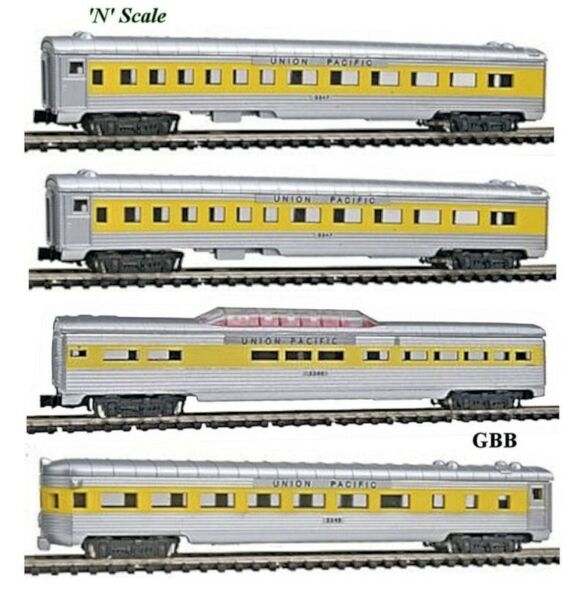 N 1:160 Scale UNION PACIFIC 4 Car Passenger Set MODEL POWER New in Box