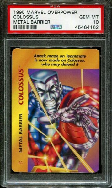 1995 MARVEL OVERPOWER COLOSSUS METAL BARRIER POP 1 PSA 10 N2858338 162 $12.99