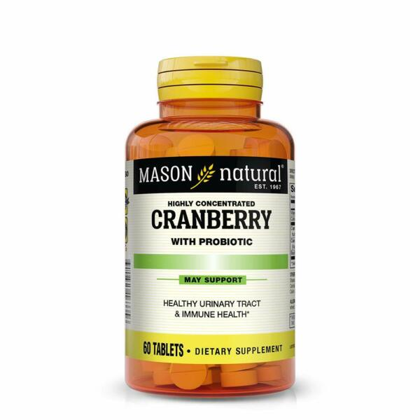 Cranberry with Probiotic and Added Vitamin C and Calcium Tablets 60 Count $14.06