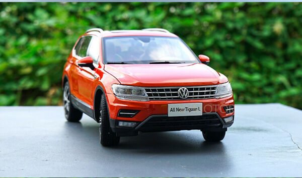 1 18 VW Volkswagen Tiguan L Diecast Metal SUV CAR MODEL gifts Collection Orange $92.95