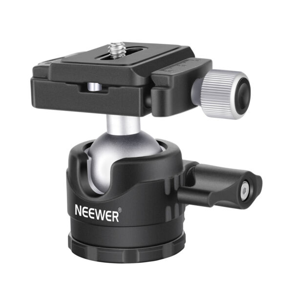 Neewer Low Profile Ball Head 360 Rotatable Tripod Head for DSLR Cameras Tripods