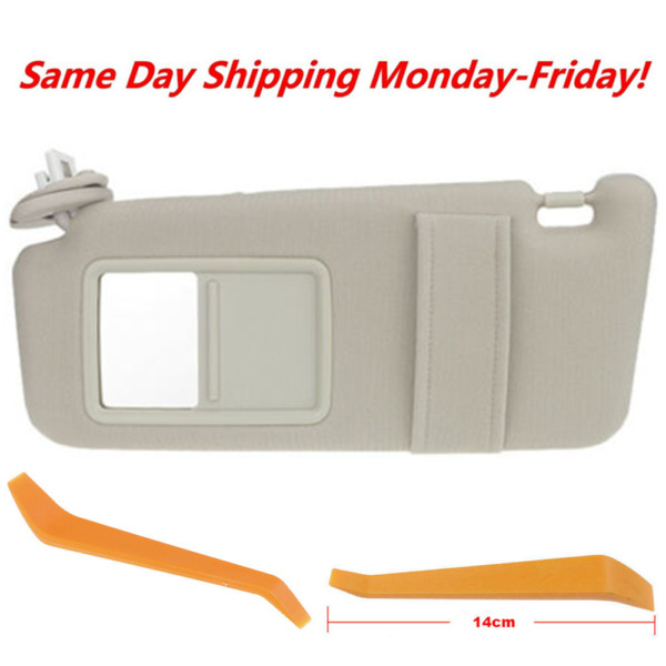 Tan Beige Ivory Driver Left Sun Visor for 2009-2016 Toyota Venza with Sunroof $26.90