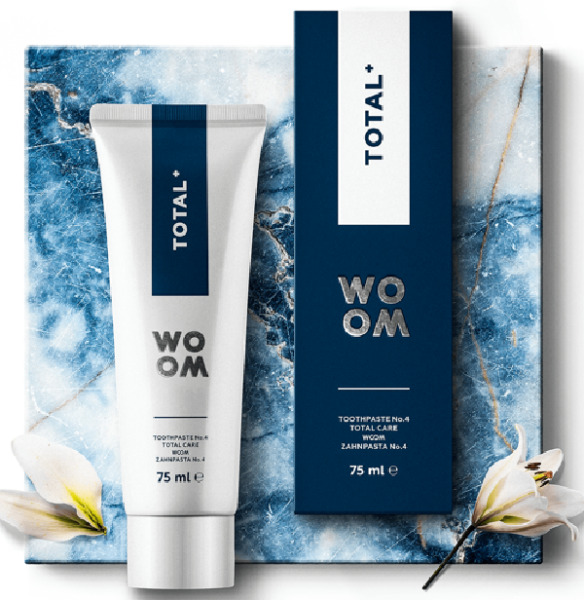 TOTAL PLUS New Age Oral Care by WOOM Latvia Produced in Spain PERF CLEAN VITAMIN