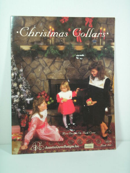Christmas Collars Counted Cross Stitch Pattern Charts Book Jeannette Crews 1987 $1.99