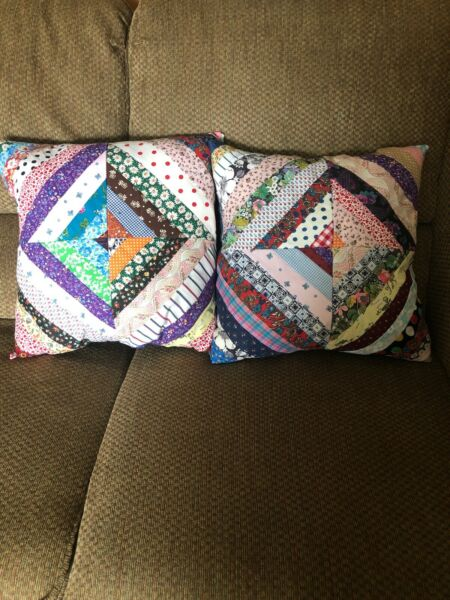 2 Handmade Country Quilted Pillows $32.00