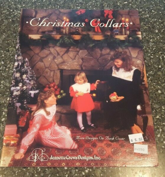Christmas Collars Jeanette Crews Designs Counted Cross Stitch Book 65 $5.49