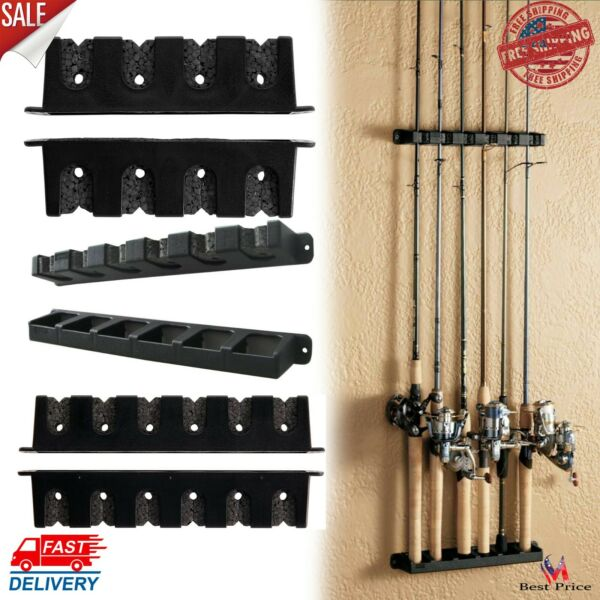Horizontal Or Vertical Rod Rack Fishing Boat Gear Pole Storage Stand Holder Wall $18.22