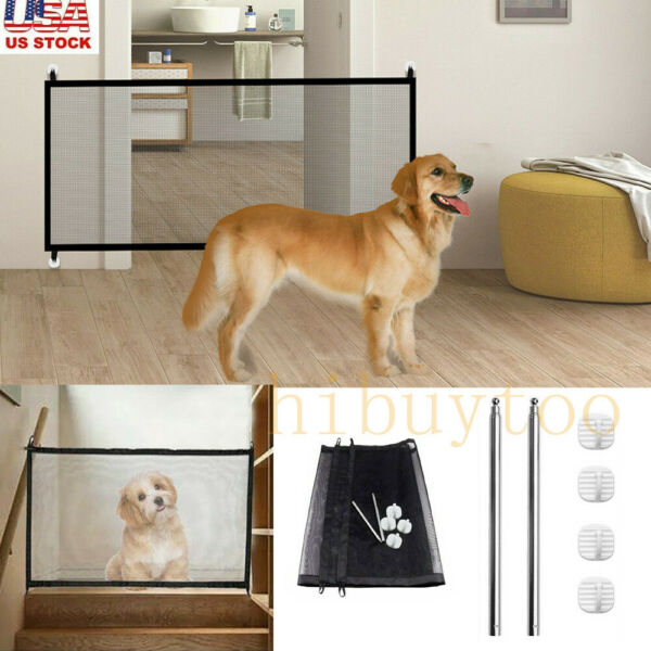 Safety Gates Baby Stair Fence Barrier Pet Dog Gate Door Ramp Guardrail Isolation $8.88