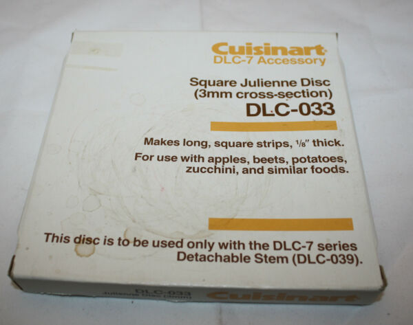 Cuisinart Food processors DLC 7 Accessory DLC 033 Julienne Disc Replacement